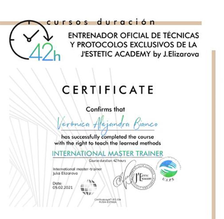 Certificado Veronica Bianco